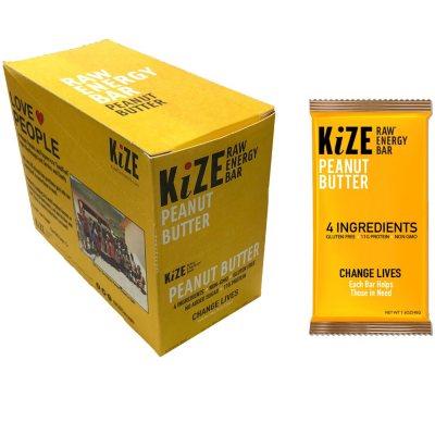 OFFLINE-KiZE Raw Energy Bar, Peanut Butter (10 ct.)