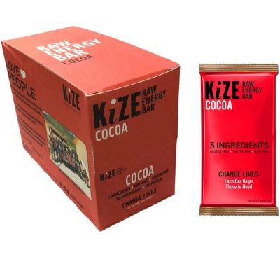 OFFLINE-KiZE Raw Energy Bar, Cocoa (10 ct.)