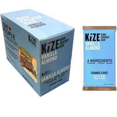 OFFLINE-KiZE Raw Energy Bar, Vanilla Almond (10 ct.)