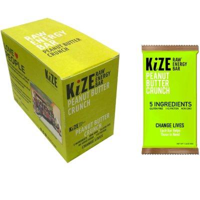 OFFLINE-KiZE Raw Energy Bar, Peanut Butter Crunch (10 ct.)