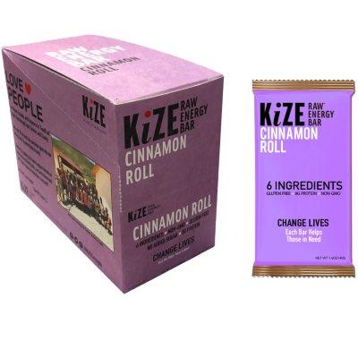 OFFLINE-KiZE Raw Energy Bar, Cinnamon Roll (10 ct.)