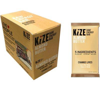 OFFLINE-KiZE Raw Energy Bar, Almond Butter (10 ct.)