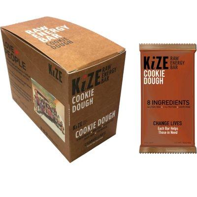 OFFLINE-KiZE Raw Energy Bar, Cookie Dough (10 ct.)