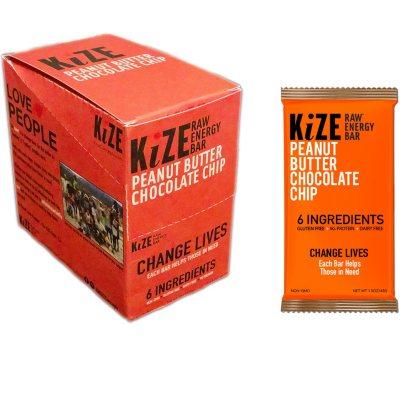 OFFLINE-KiZE Raw Energy Bar, Peanut Butter Chocolate Chip (10 ct.)