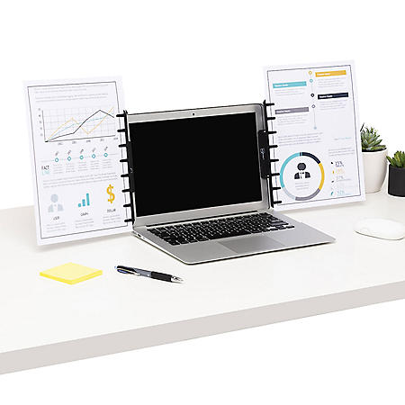 Note Tower Monitor Document Holders, 2-Pack Portable Copy Holders, Clip onto Laptop & Desktop Monitors