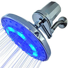 Pure Blue H2O Filtered Rain Garden LED Shower Head