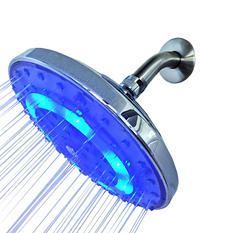 Pure Blue H2O Rain Garden LED Shower Head