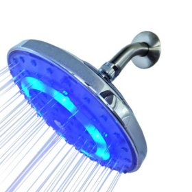 Pure Blue H2O Rain Garden LED Shower Head