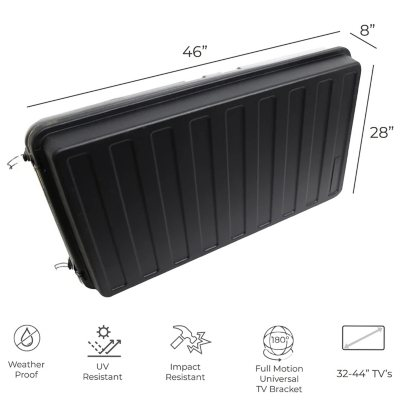 Storm Shell Weatherproof Tv Enclosure With Tv Mount Sam S Club