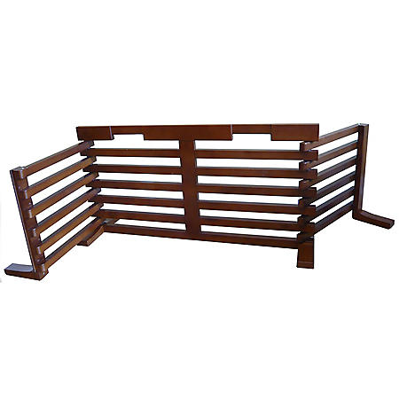 Zoovilla Gate-N-Crate, Walnut (Choose Your Size)