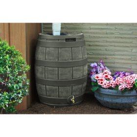 50-Gallon Rain Vault Barrel, Assorted Colors