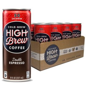 High Brew Coffee Double Espresso (8oz / 12pk)