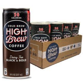 High Brew Coffee Black & Bold (8oz / 12pk)