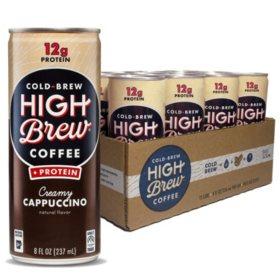 High Brew Coffee Creamy Cappuccino Plus Protein (8oz / 12pk)