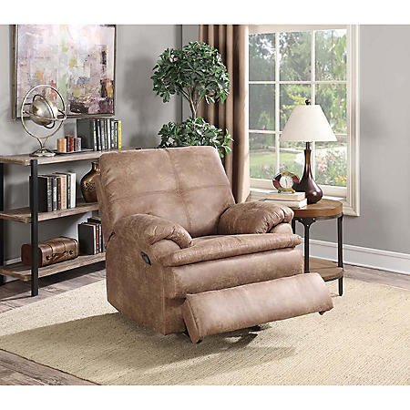 Buck Faux-Leather Recliner