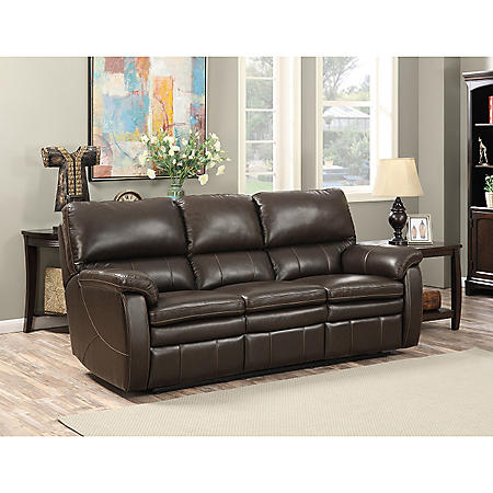 Pleasing Crawford Top Grain Leather Reclining Sofa Download Free Architecture Designs Scobabritishbridgeorg