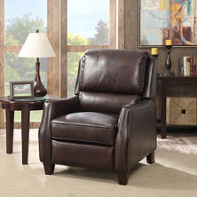 Wallace Top-Grain Leather Push-Back Recliner