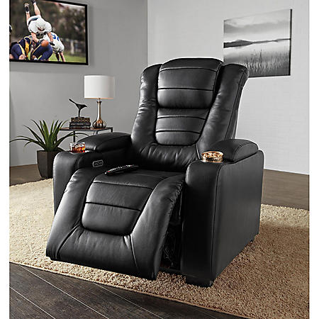 Paxton Power Theater Recliner with Power Adjustable Head Rest ...
