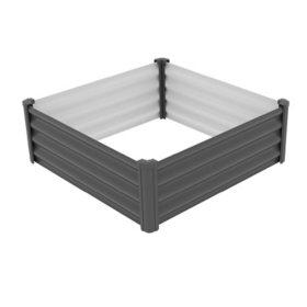 The Organic Garden Co. 4' x 4' Galvanizd Raised Garden Bed - Woodland Gray