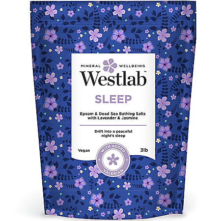 Westlab Sleep Epsom and Dead Sea Salts with Lavender and Jasmine (3 lbs.)