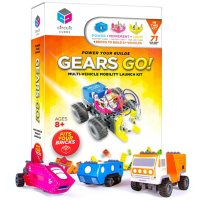 Circuit Cubes Gears Go Multi-Vehicle Electronic Toy Building Set Lego Compatible Building Blocks STEM Toy Learning