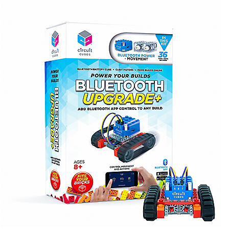 Circuit Cubes Bluetooth Upgrade Add Bluetooth App Control to Any Build Engineering STEM Kit for Children and Adults