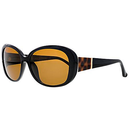 Ashby Grace Women's Polarized Oval Sunglasses