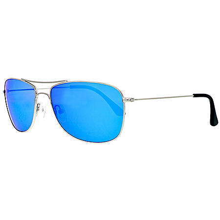 Pacific Traders Men's Polarized Aviator Sunglasses