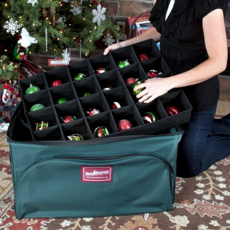 Christmas Ornament Storage Bag with Trays