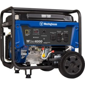 Westinghouse 6,000/7,500-Watt Gasoline-Powered Portable Generator