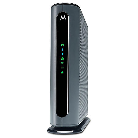Motorola 24x8 DOCSIS 3.0 Cable Modem plus AC1900 Dual Band Wi-Fi Gigabit Router with Power Boost