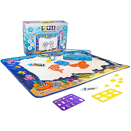 Tytan Mat Water-Based Doodling Activity Mat for Kids, Fun with No Mess & No Chemicals, Under-the-Sea Theme