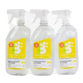 Boulder Clean Disinfectant Spray, Lemon (28 oz., 3 pk.)