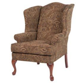 Preston Mocha Wingback Chair
