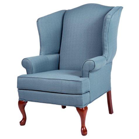 Ellis Colonial Blue Wingback Chair