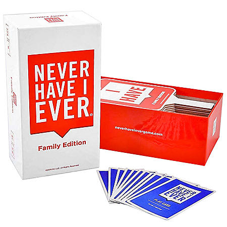 Never Have I Ever Family Edition w/ 6 Paddles 224 cards