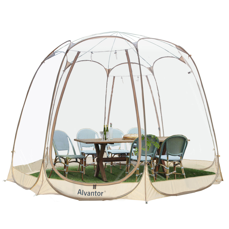 Alvantor Bubble Tent Pop Up Gazebo 12′ x 12′ Camping Tent