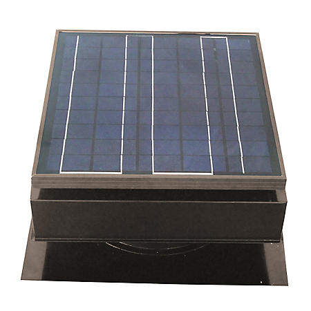 Remington Solar 25 or 30 Watt Solar Powered Attic Fan (Gray or Black)