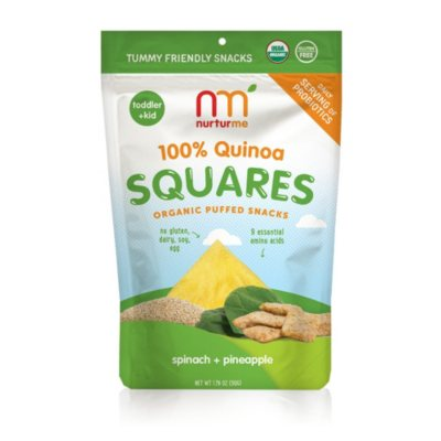 NurturMe Quinoa Square Organic Snacks, Pineapple & Spinach (1.76 oz.)