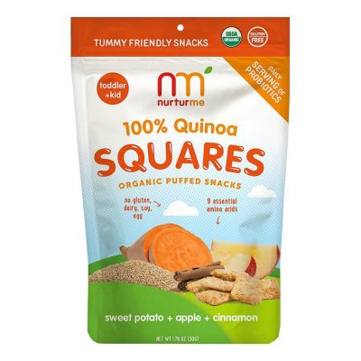 NurturMe Quinoa Square Organic Snacks, Sweet Potato, Apple & Cinnamon (1.76 oz.)
