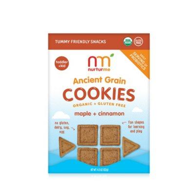 NurturMe Organic Ancient Grain Cookies, Maple & Cinnamon (4.3 oz.)