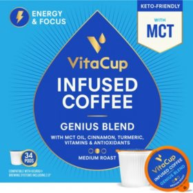 VitaCup Genius Blend Infused Coffee Pods (34 ct.)