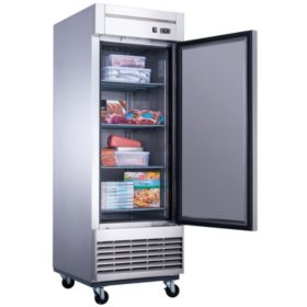 Dukers 17.7 cu. ft. Single Door Commercial Freezer in Stainless Steel