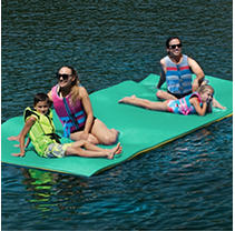 Floating Oasis Water Pad, Teal/Yellow