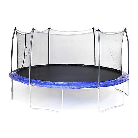 Skywalker Trampolines 17' Oval Trampoline and Enclosure - Blue