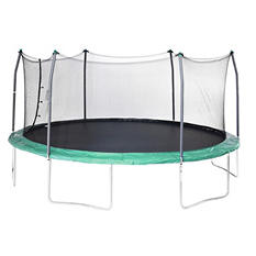 Skywalker Trampolines 17' Oval Trampoline and Enclosure - Green