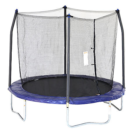Skywalker Trampolines 8' Round Trampoline and Enclosure - Blue
