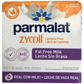 Parmalat Zymil Lactose-Free Fat-Free Milk (32 fl. oz., 6 pk.)