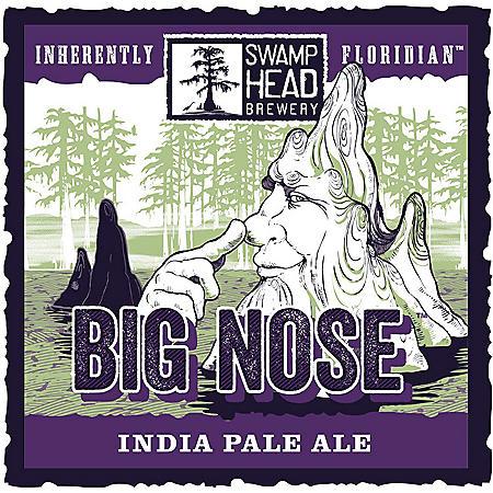 Swamp Head Big Nose India Pale Ale (12 fl. oz. can, 6 pk.)