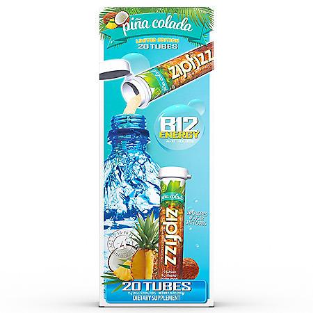 Zipfizz Energy Drink Mix, Piña Colada (30 ct.)